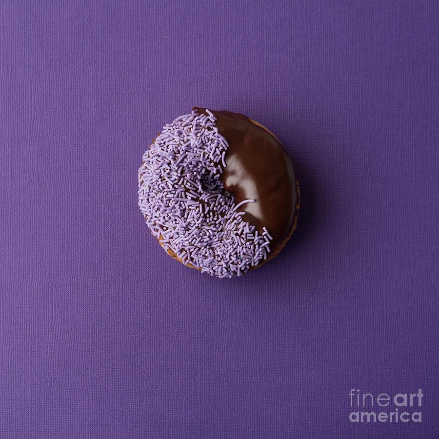 Donut On Coloured Background Photograph By Gillian Vann
