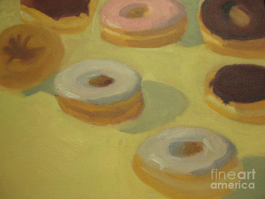 Donuts Painting - Donuts by Sharon Hollander