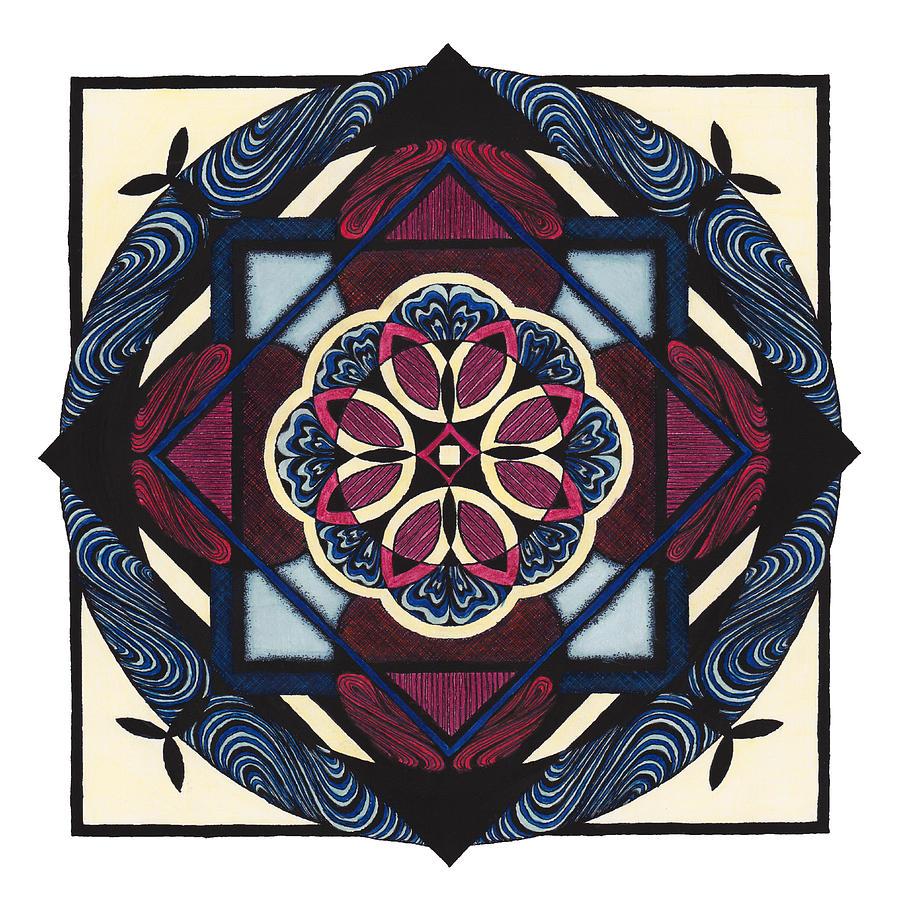 Mandala Drawing - Doodle 4b by Sherri Odegaarden