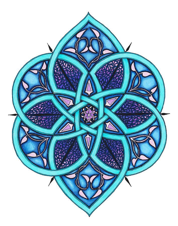Mandala Drawing - Doodle 8a by Sherri Odegaarden