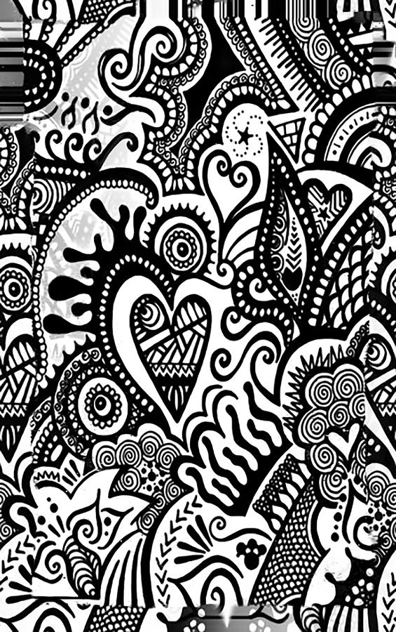 Doodle Art Phone Case Design by Fli Art
