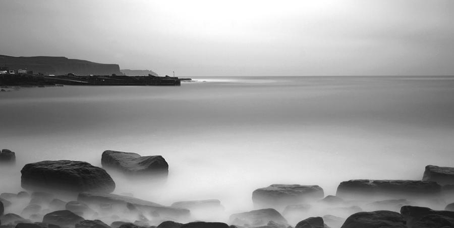 Long-exposure Water Ocean Doolin Co Photograph - Doolin Pier by Peter Skelton