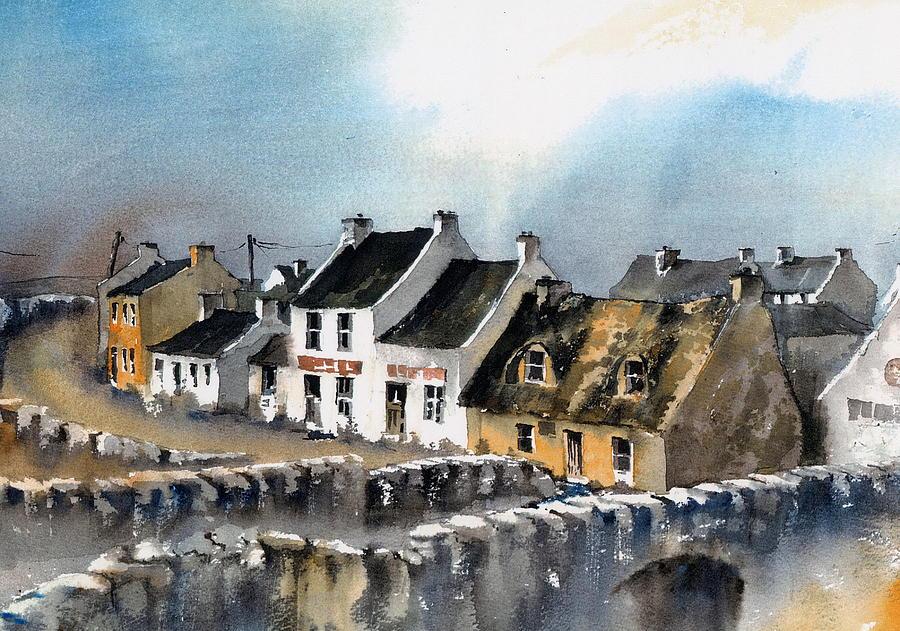 Val Byrne Painting - Clare Doolin Village  by Val Byrne