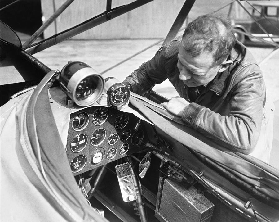 1929 Photograph - Doolitle Blind Plane by Underwood Archives