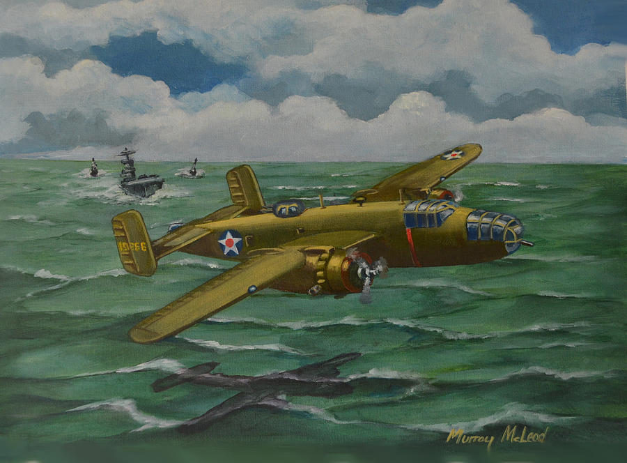 Us Army Air Force Painting - Doolittle Raider 2 by Murray McLeod