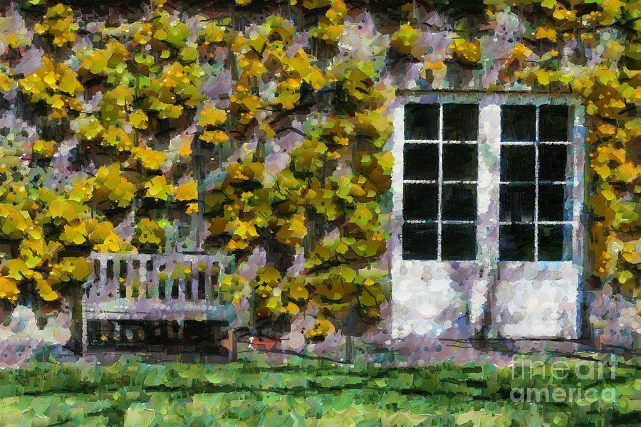 Door and bench by Fran Woods