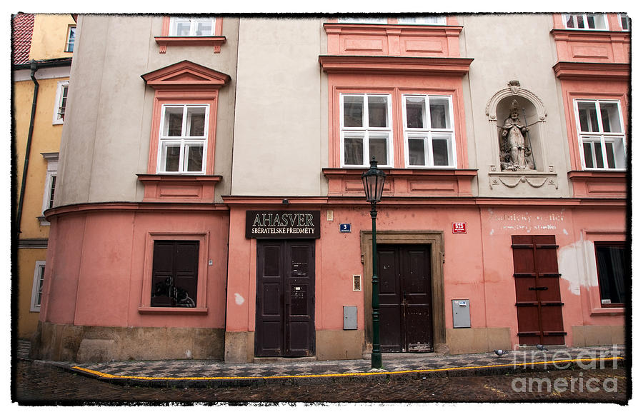 Pink Photograph - Door Choices In Prague by John Rizzuto