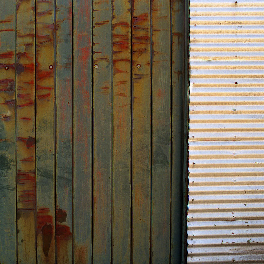 Square Photograph   Door Corrugated Metal Square Door By Greg Kluempers