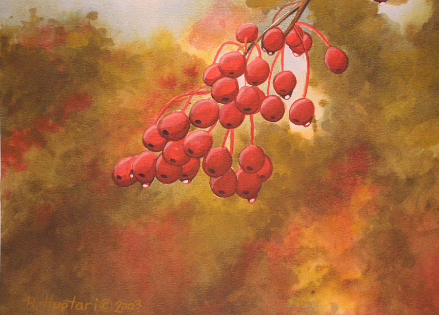 Cherries Painting - Door County Cherries by Rick Huotari