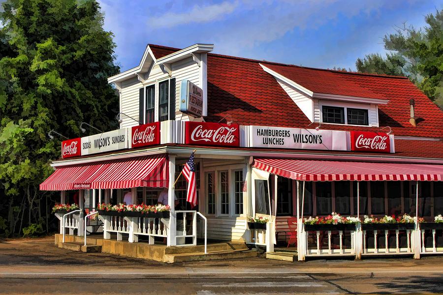 Door County Painting - Door County Wilsons Ice Cream Store by Christopher Arndt