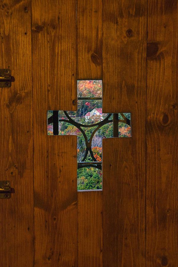 Door Cross by Sandy Scharmer
