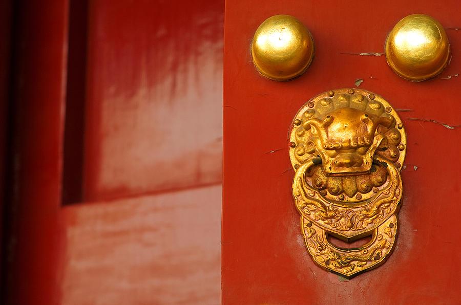 China Photograph - Door Handle by Sebastian Musial