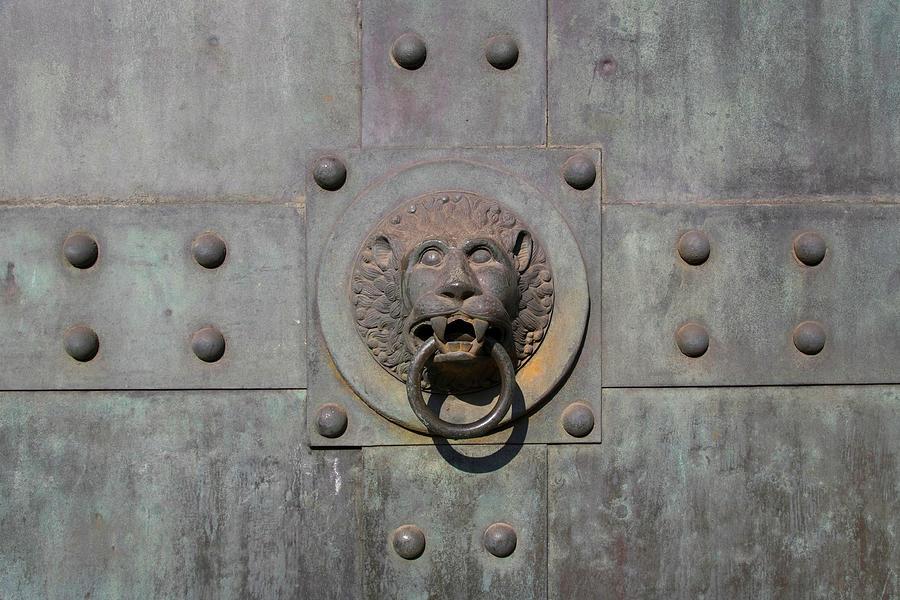 Door Knocker Lions Head Photograph by C-vino