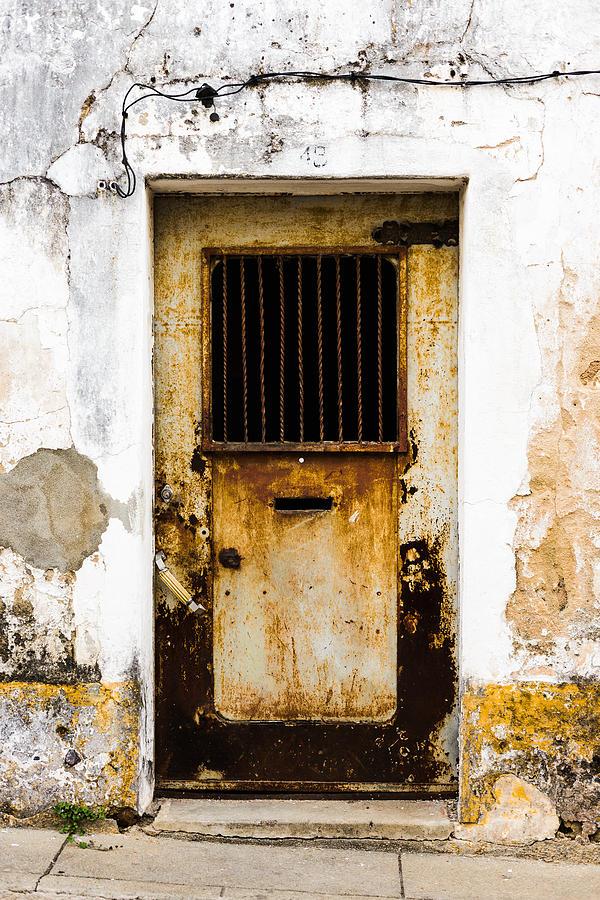 Metal Door Photograph - Door No 48 by Marco Oliveira