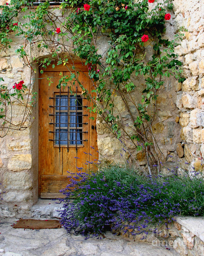 Wooden Photograph - Door, Provence by Holly C. Freeman