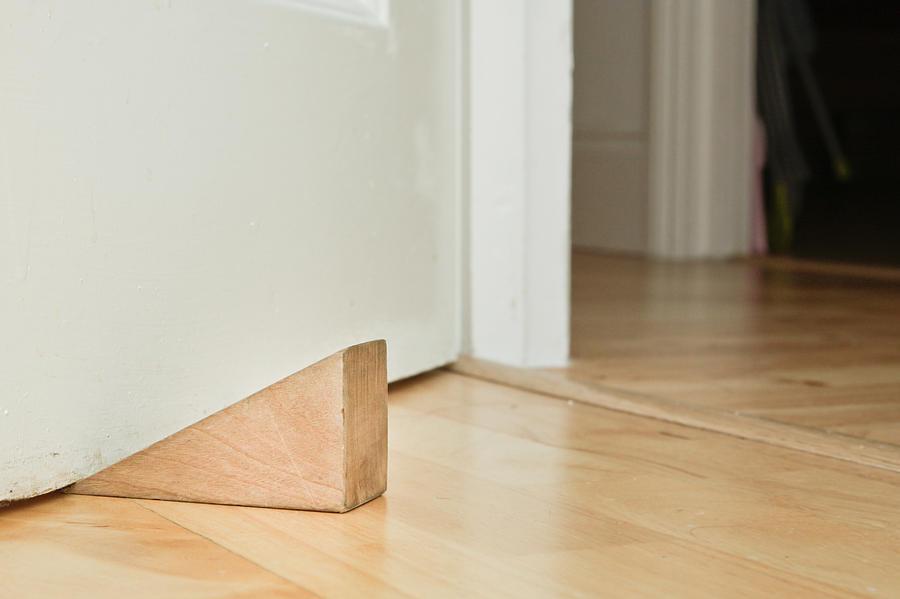 Board Photograph - Door Stopper by Tom Gowanlock