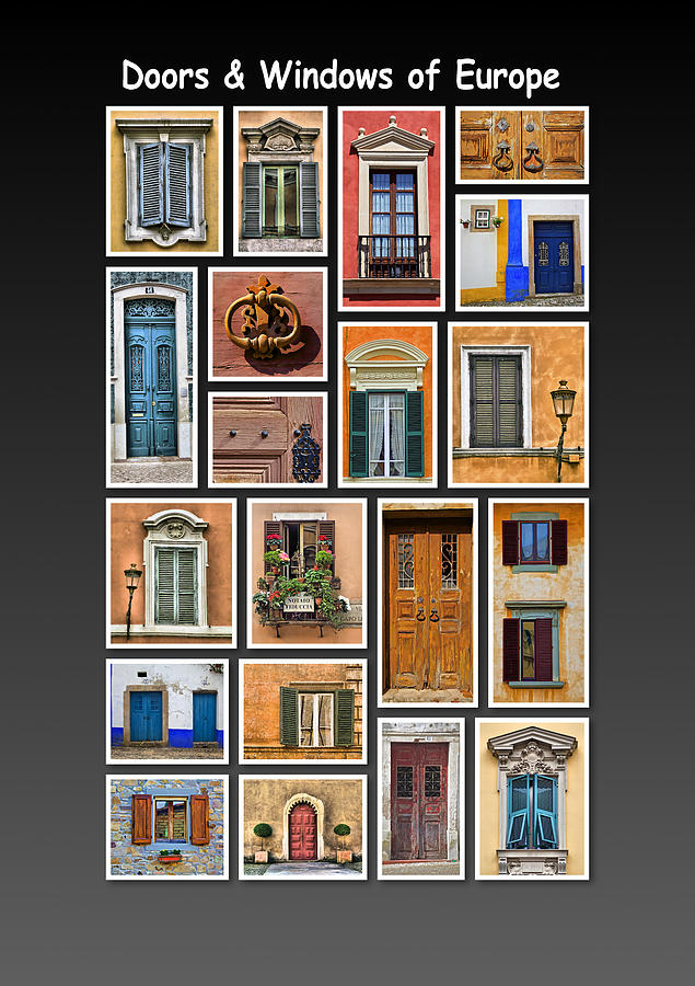 Doors Photograph - Doors And Windows Of Europe by David Letts