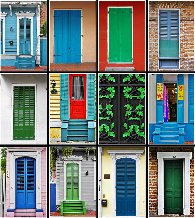 Collage Photograph - Doors New Orleans by Christine Till