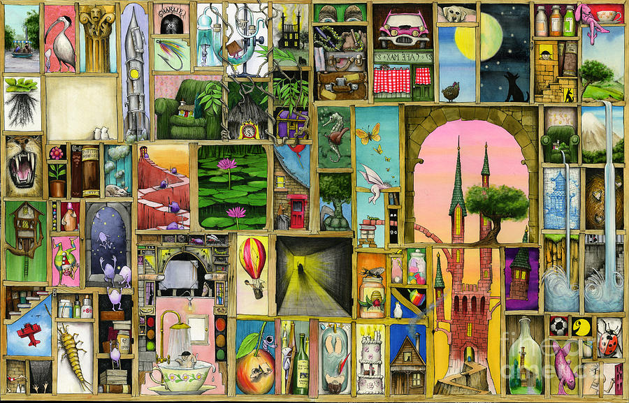 Collage Digital Art - Doors Open by Colin Thompson