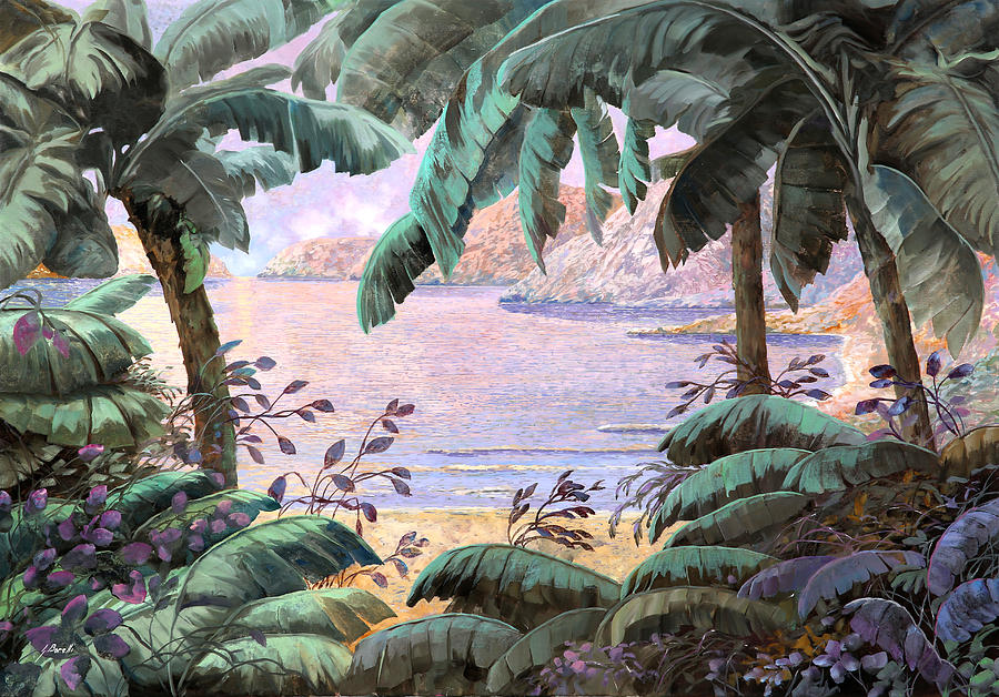 Seascape Painting - Dopo La Jungla Il Mare by Guido Borelli
