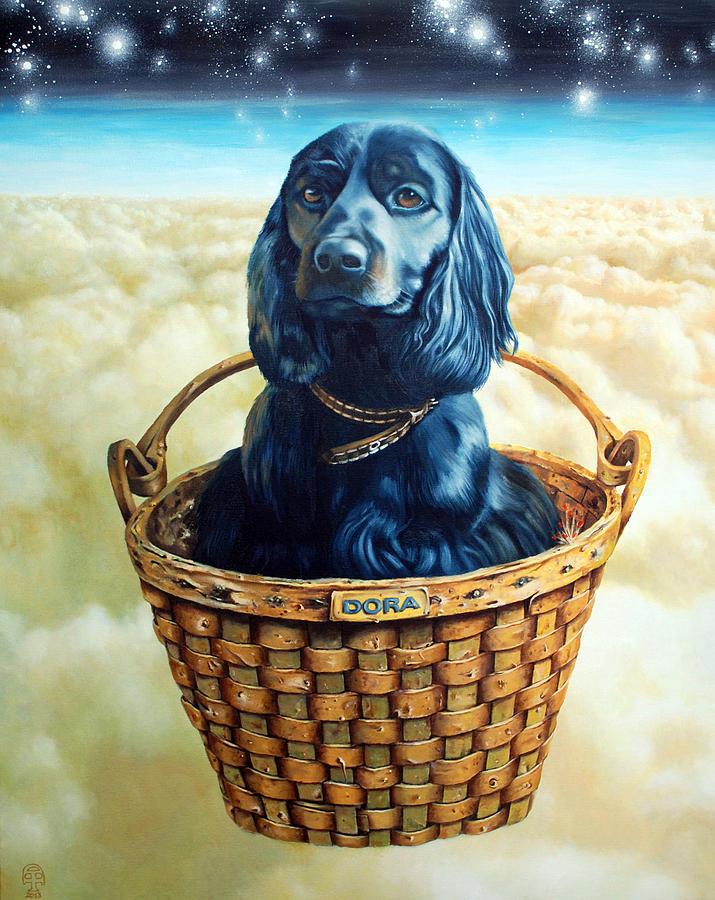 Dog Painting - Dora by Tautvydas Davainis
