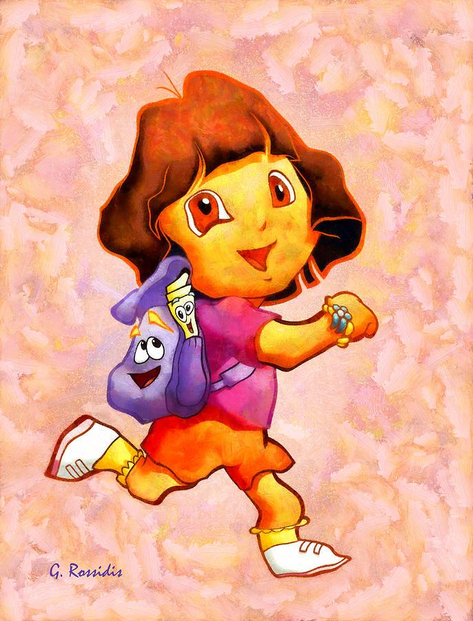 Dora The Explorer Painting - Dora The Explorer by George Rossidis