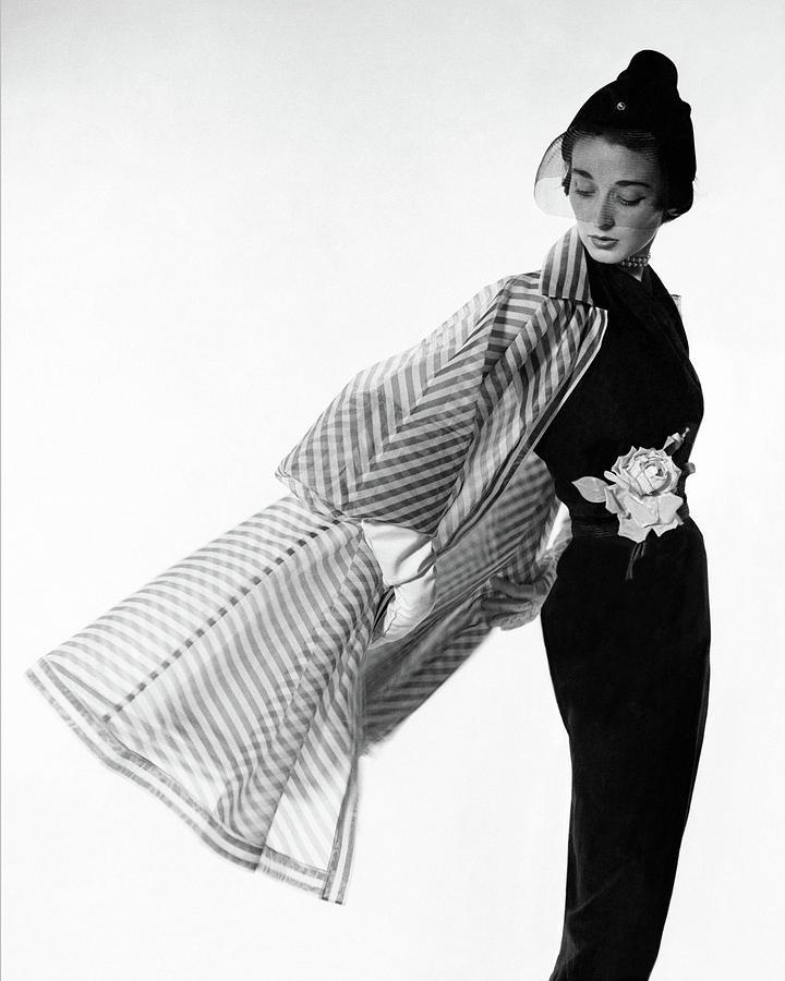Dorian Leigh Wearing A Bonnie Cashin Dress Photograph by Cecil Beaton