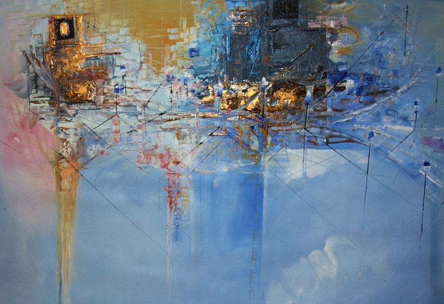 Hermes Painting - Dormant Landscape by Hermes Delicio