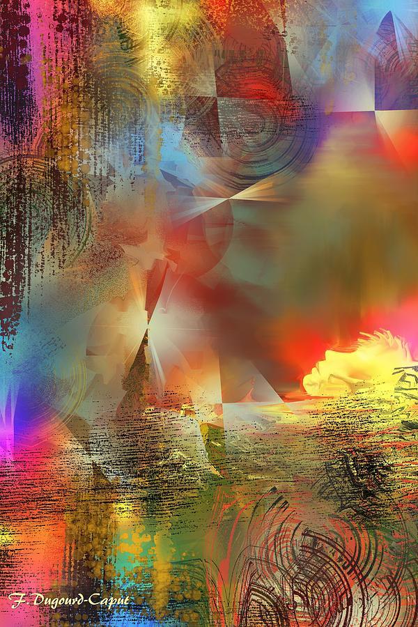 Abstract Digital Art - Dormeur by Francoise Dugourd-Caput