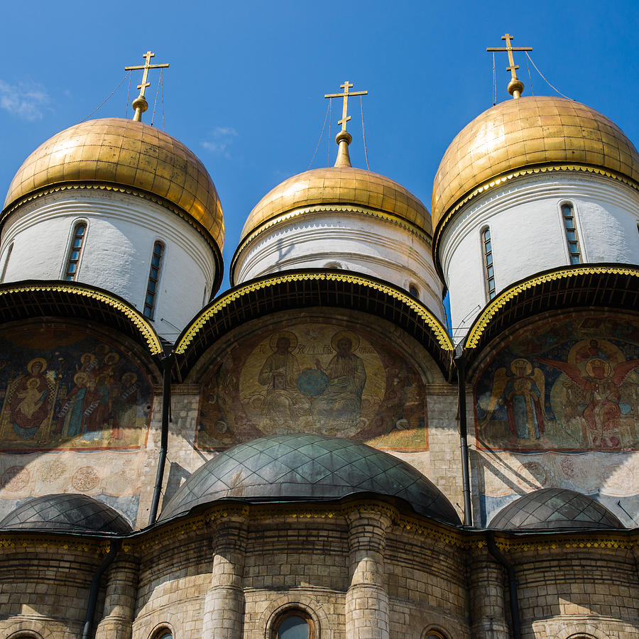 Architecture Photograph - Dormition Cathedral - Square by Alexander Senin