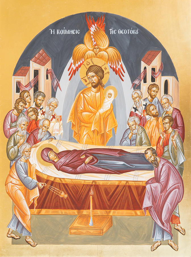 Dormition Painting - Dormition Of The Theotokos by Julia Bridget Hayes