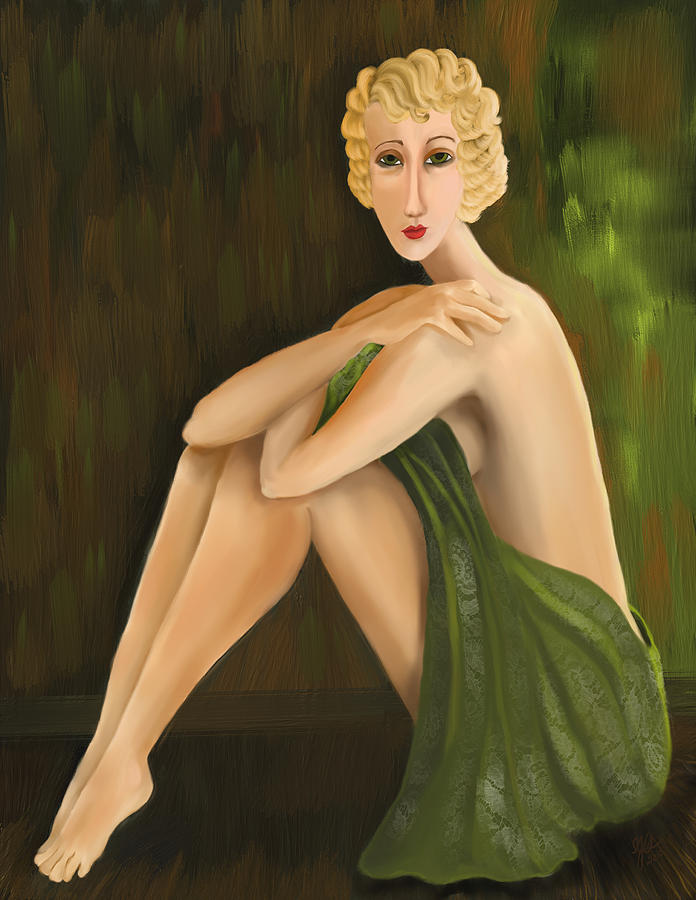 Woman Digital Art - Doro Verde by Sydne Archambault