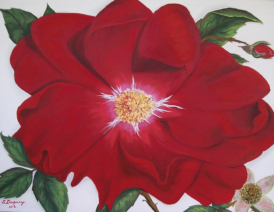 Dortmund Climber Rose Painting