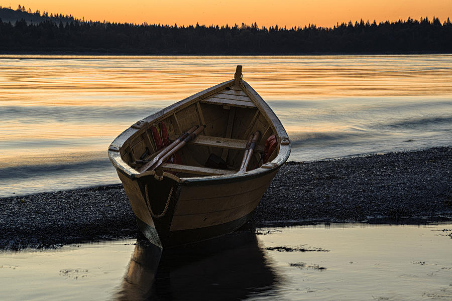 Dory Photograph - Dory At Dawn by Marty Saccone