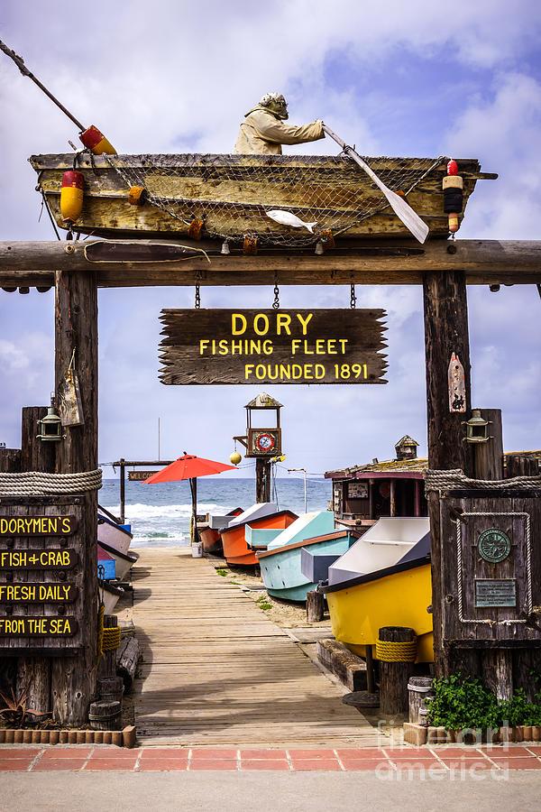 America Photograph - Dory Fishing Fleet Market Newport Beach California by Paul Velgos