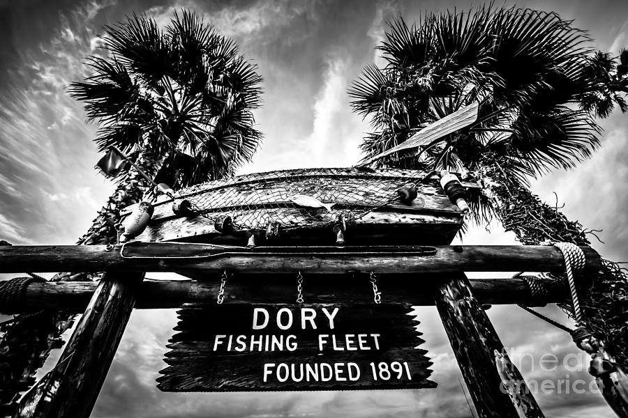 America Photograph - Dory Fishing Fleet Sign Picture In Newport Beach by Paul Velgos