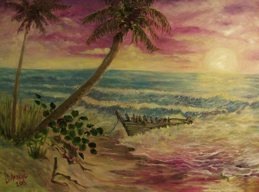 Ocean Painting - Dory Storey by Beth Arroyo