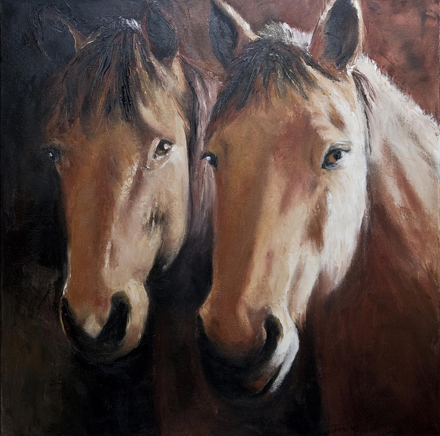 Horse Artwork Painting - Dos Equis by Terri  Meyer