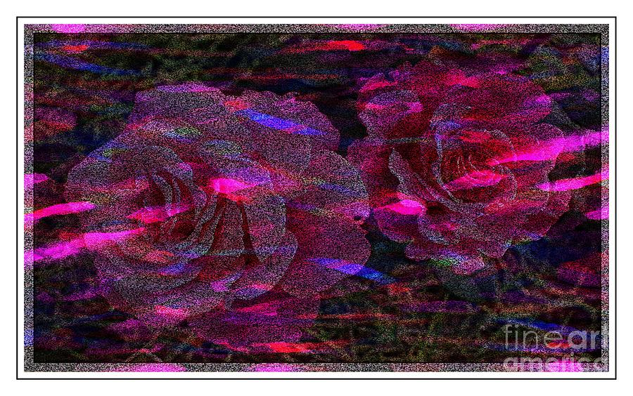 Light Digital Art - Dots Of Light And Roses by Barbara Griffin
