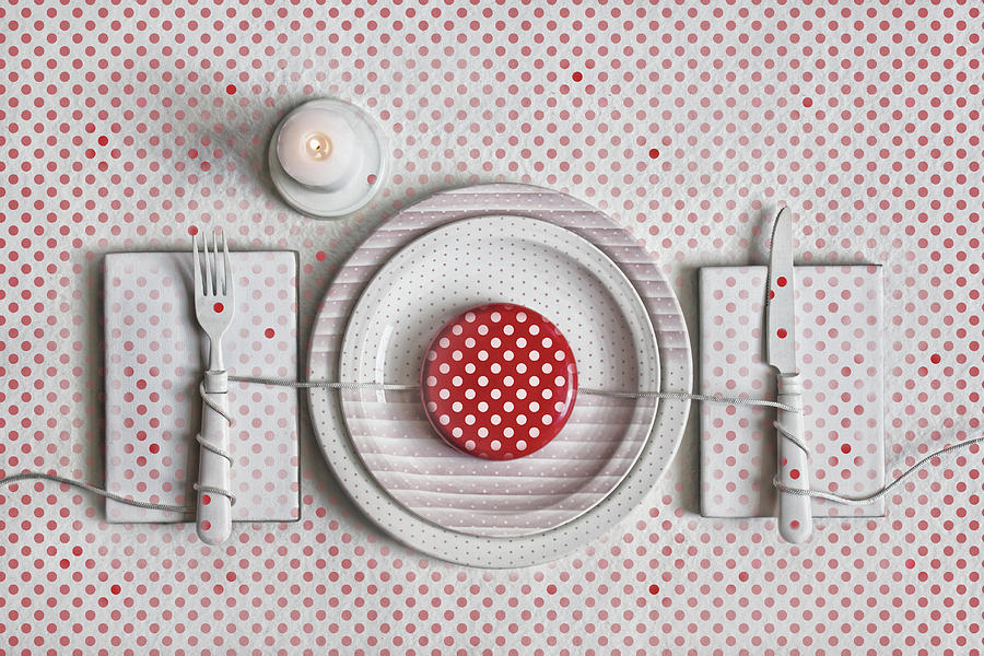 Polka Dots Photograph - Dotted Dinner by Dimitar Lazarov -