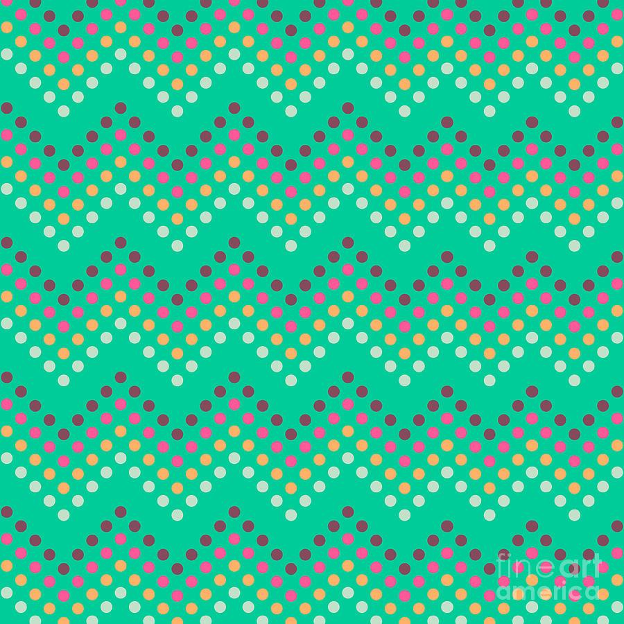Stripes Digital Art - Dotted Lines Zigzag Pattern With by Hakki Arslan