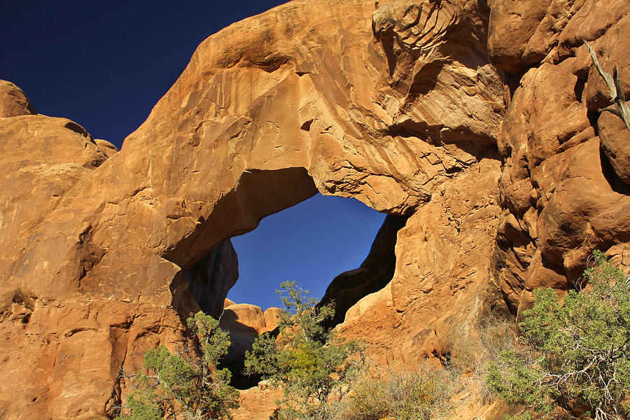 Double Arch Photograph - Double Arch - Backside by Mike McGlothlen