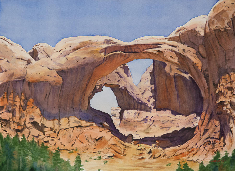 America Painting - Double Arch by Christopher Reid