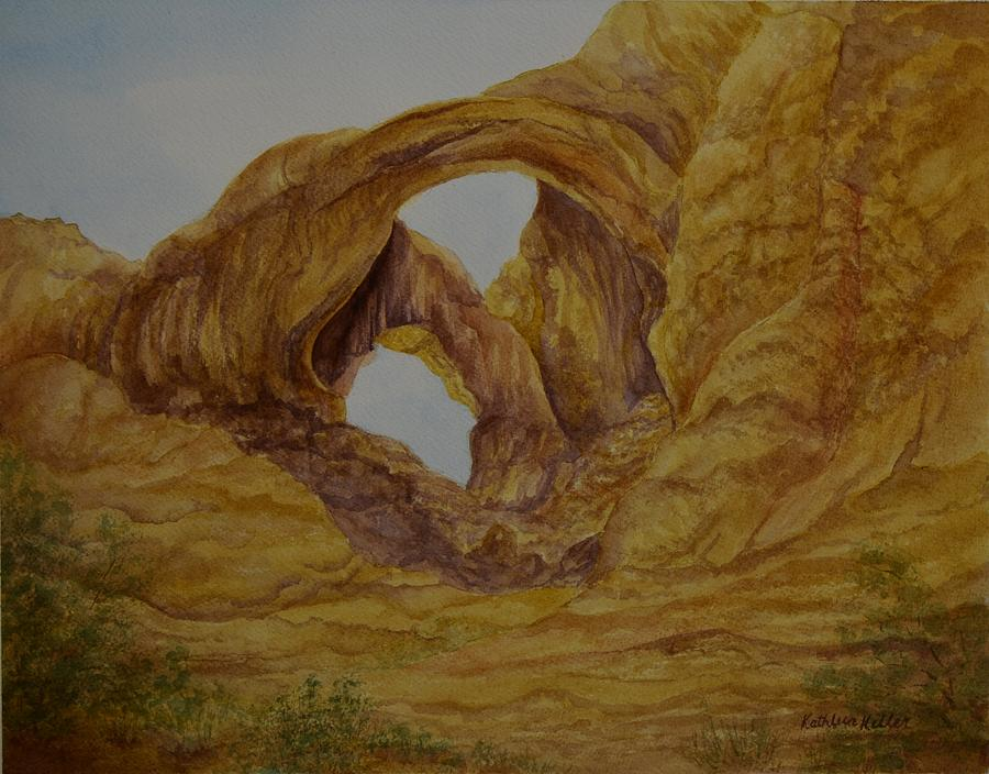 Double Arch Painting - Double Arches by Kathleen Keller