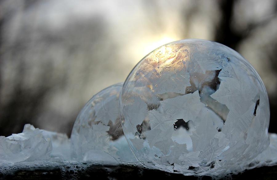 Bubble Photograph - Double Bubble by Candice Trimble