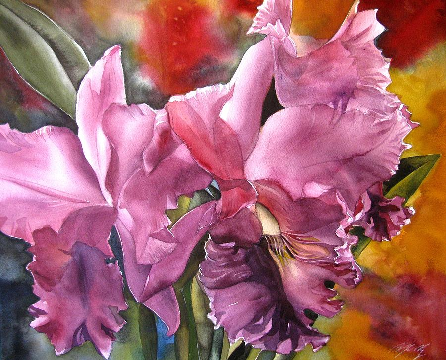double cattleya orchid painting by alfred ng. Black Bedroom Furniture Sets. Home Design Ideas