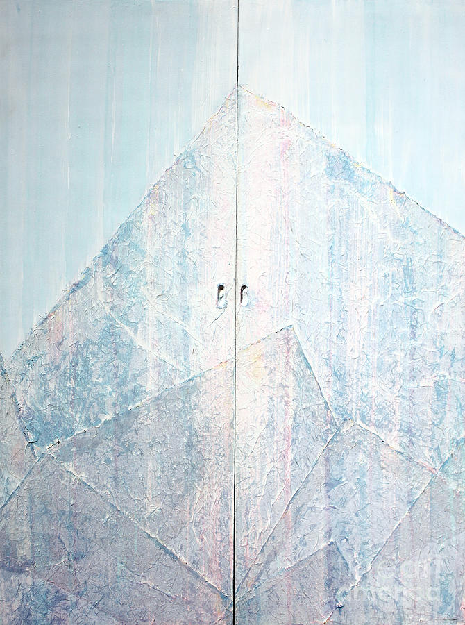 Abstract Painting Sculpture - Double Doors To Peaceful Mountain by Asha Carolyn Young