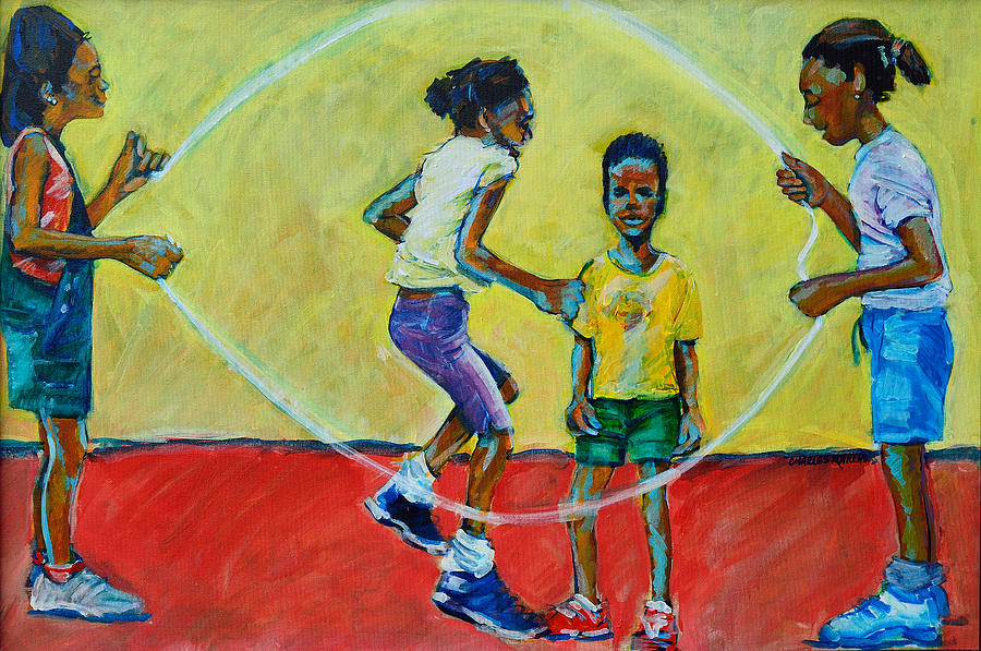 Play Painting - Double Dutch by Charles M Williams