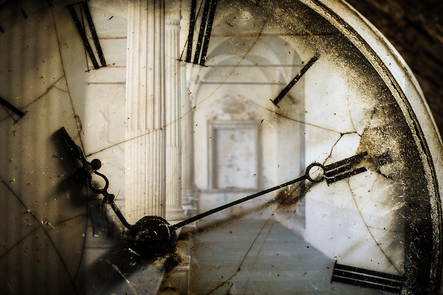 Double Exposure Of Antique Pocket Watch And Old Architecture Photograph by Ilbusca