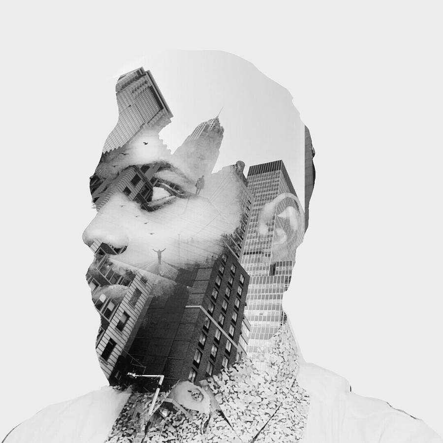 Double Exposure On Man Face Against Photograph by Sunny Hopper / Eyeem